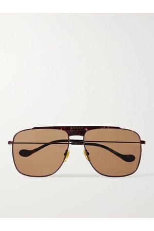 GUCCI Men Sunglasses - Aviator-Style Metal Sunglasses