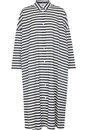 Max Mara Women Midi Dresses - Bibo striped cotton-blend midi dress
