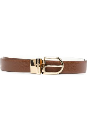 Emporio Armani Women Belts - Engraved logo belt