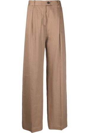 Nine In The Morning High-waisted palazzo trousers