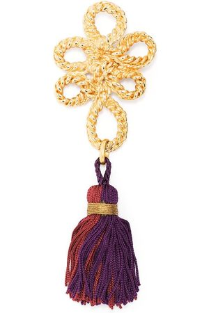 Yves Saint Laurent 1990s dangle tassel rope brooch