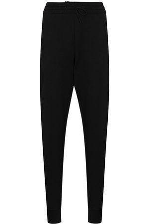 Y-3 Tonal-logo cotton track pants