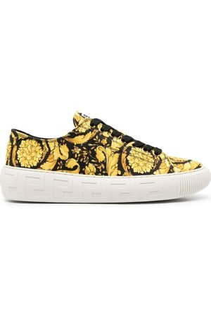 VERSACE Greca Barocco print low-top sneakers