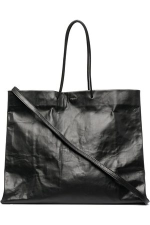 Medea Crinkled leather tote bag