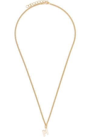 Msgm M logo chain pendant necklace