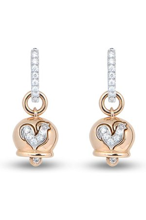 CHANTECLER 18kt rose gold Campanella diamond rooster earrings