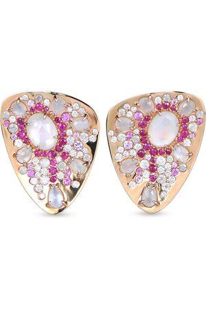 RODNEY RAYNER 18kt rose gold diamond Starburst stud earrings