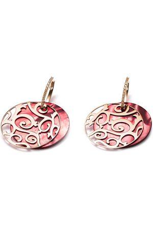 Mattioli 18kt rose cut-out drop diamond earrings