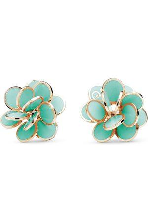 CHANTECLER 18kt rose gold Paillettes small flower earrings