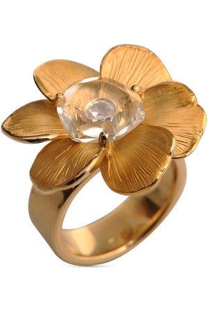 Carrera 18kt yellow diamond medium Gardenia flower ring