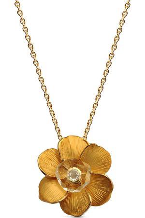 Carrera 18kt yellow Gardenias diamond and rock crystal necklace
