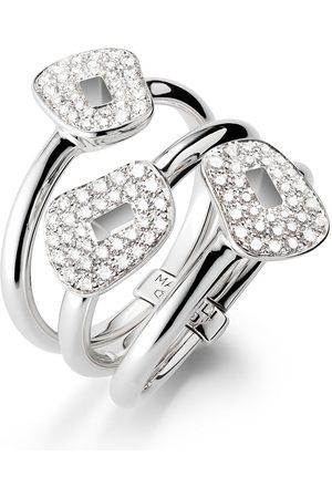 Mattioli 18kt white gold 3 diamond ring