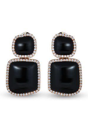 CHANTECLER 18kt rose gold Enchanté diamond and onyx earrings