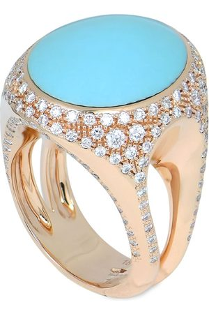CHANTECLER 18kt rose gold Cherie turquoise and diamond ring