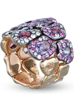 RODNEY RAYNER 18kt rose gold diamond Via Roma 2 Row ring