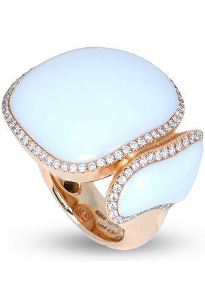 CHANTECLER 18kt rose gold Enchanté diamond and chalcedony ring