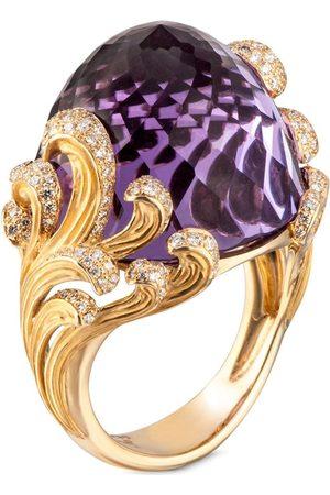 Carrera 18kt yellow diamond amethyst Origen maxi ring
