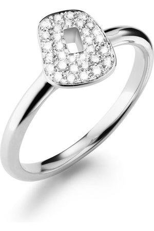 Mattioli Women Rings - 18kt white gold diamond nugget ring