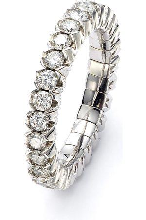 Mattioli Women Rings - 18kt white gold diamond Elastic Eternity ring