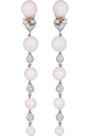 CHANTECLER 18kt white gold diamond Bon Bon long drop earrings