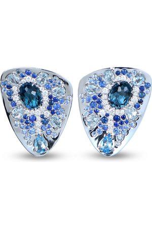 RODNEY RAYNER 18kt white gold Starburst stud earrings
