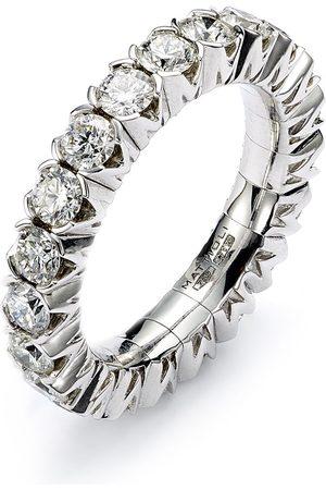 Mattioli 18kt white gold elastic eternity diamond band ring