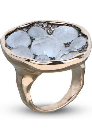 RODNEY RAYNER 18kt rose gold diamond quartz embellished ring