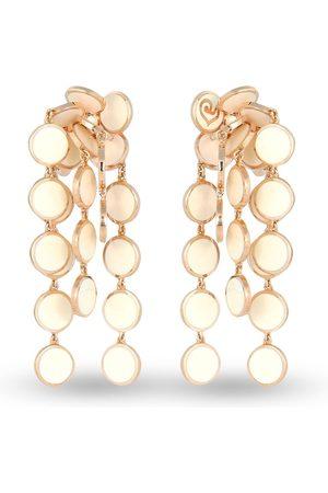CHANTECLER 18kt rose gold Cascade Paillettes mini enamel earrings