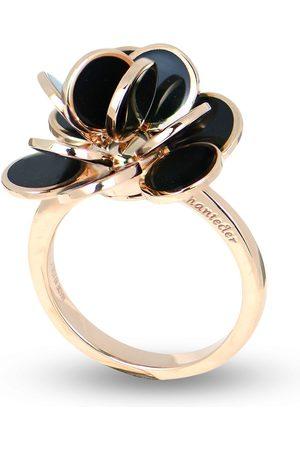 CHANTECLER 18kt rose gold mini Paillettes enamel ring