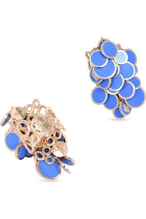 CHANTECLER Women Rings - 18kt rose gold Cascade Paillettes diamond and blue enamel ring