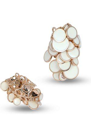 CHANTECLER 18kt rose gold Cascade Paillette enamel earrings