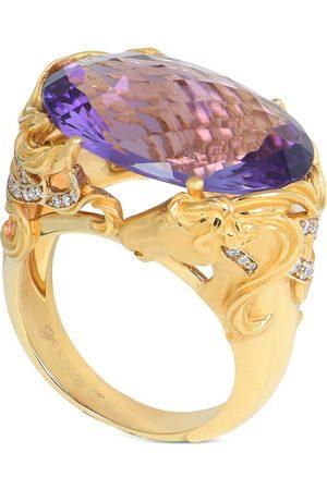 Carrera 18kt yellow diamond amethyst Ecuestre ring