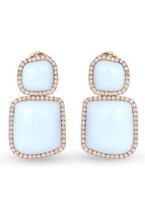 CHANTECLER 18kt rose gold Enchanté diamond and chalcedony earrings