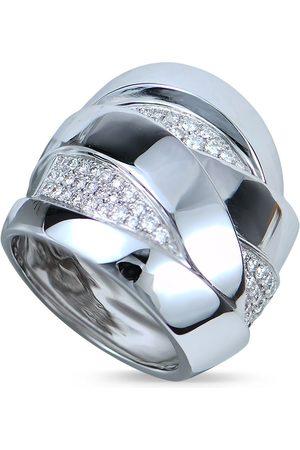 Mattioli 18kt white gold Maldamore 3 diamond band ring