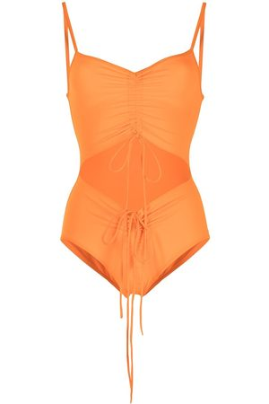 CHRISTOPHER ESBER Ruched disconnected one-piece