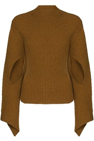Victoria Beckham Cut-out sleeve ribbed jumper