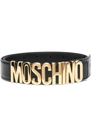 Moschino Logo-plaque adjustable-fit belt
