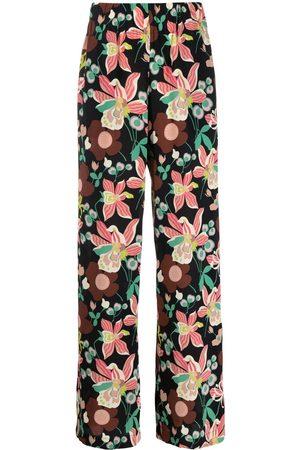 Aspesi Floral-print palazzo trousers