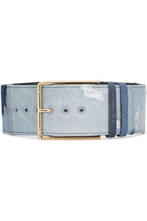 Dolce & Gabbana Gold-tone denim belt