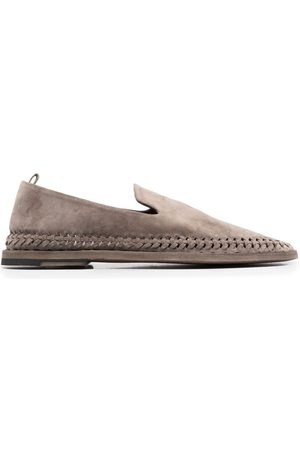 Officine creative Whipstitch-detail suede loafers