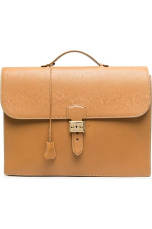 Hermès 1990s pre-owned flap leather briefcase