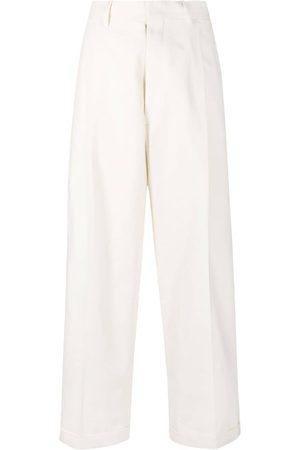 Maison Margiela Tonal pattern high-waist trousers