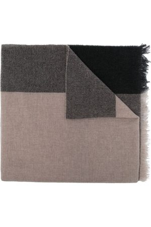 Lady Anne Color-block cashmere scarf