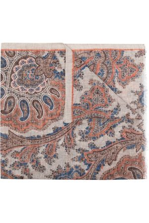Lady Anne Paisley-print linen scarf