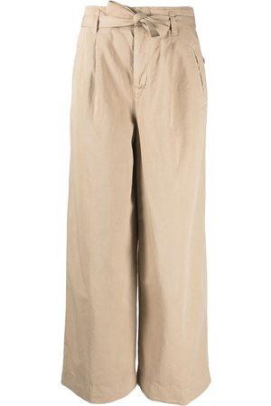 Incotex High-rise wide-leg trousers