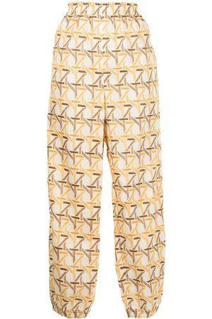 Tory Burch Embroidered pattern palazzo trousers