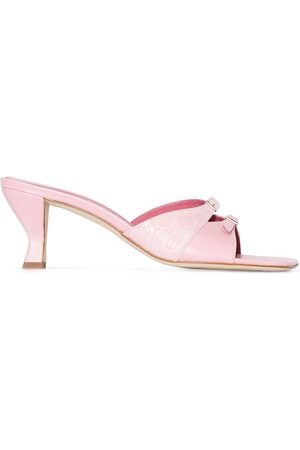 By Far Noor 75mm leather mules