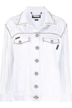 Philipp Plein Fringe-detail denim jacket