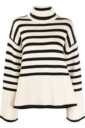 Totême Striped roll neck jumper
