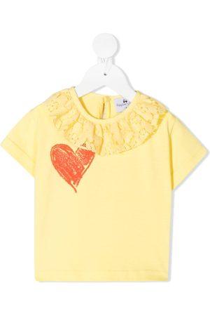 RASPBERRY PLUM Elise ruffled-collar T-shirt
